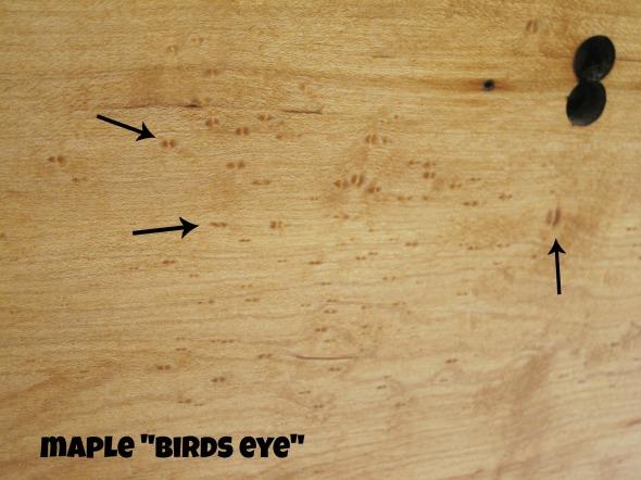 maple dresser birds eye