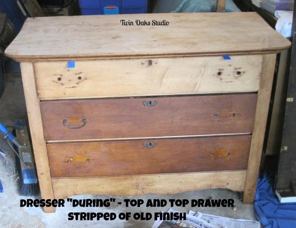 maple dresser during