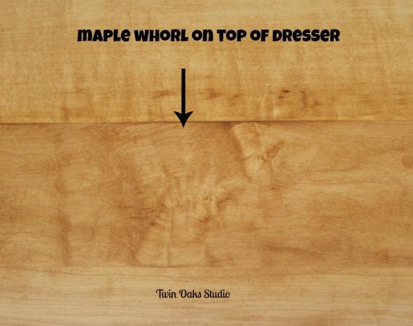 maple dresser whorl after
