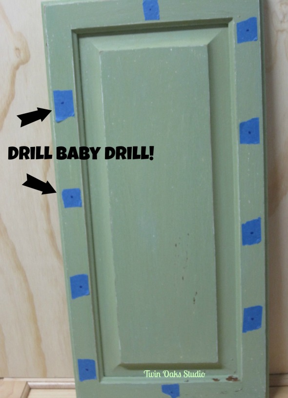 door drill marked
